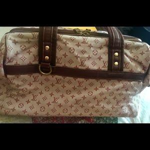 AUTHENTIC LOUIS VUITTON mauve canvas bag